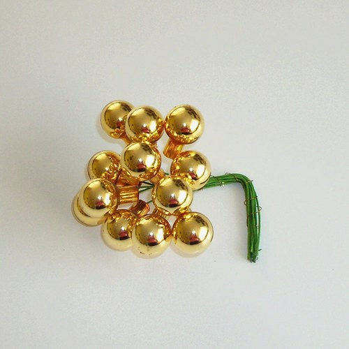 Baňka zlatá 12 ks