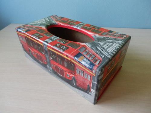 Krabička na kapesníky Londýnský autobus