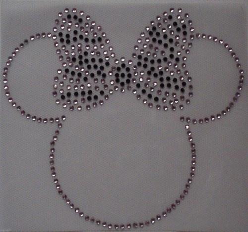 Myš - Štrasový nažehlovací motiv, kamínky
