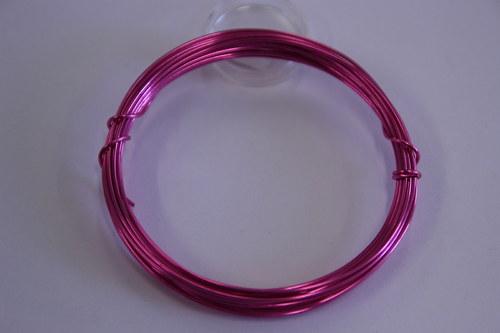 Měděný drátek 1mm - růžový, návin 3,8-4m