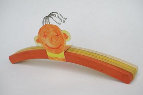Dětská barevná ramínka - dárkové balení