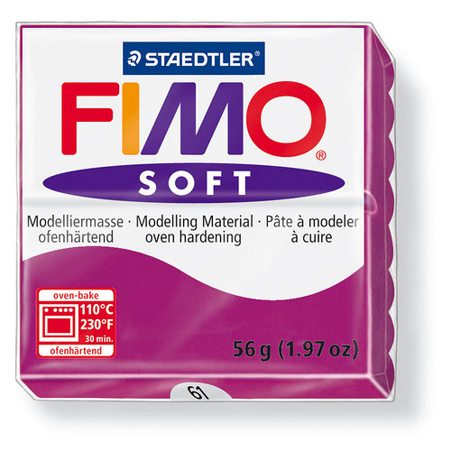 Fimo soft purpurová 61