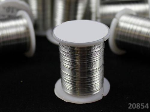 20854 Bižuterní drát 0.3mm STŘÍBRNÝ, cívka 10m
