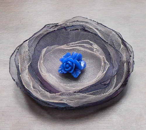 Květinová brož, velká - 22