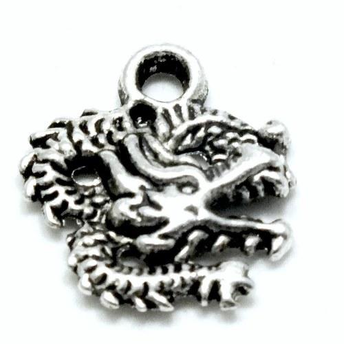 Přívěsek - drak smotaný, 2 ks