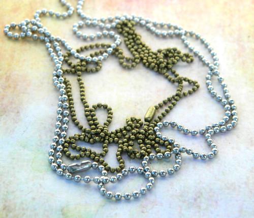 Kuličkové řetízky ke šperku