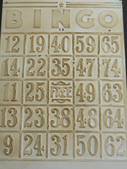 Embossovaný polotovar k dotvoření - bingo