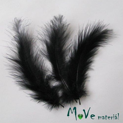 Pštrosí peří délka 120-170mm, 4ks černé