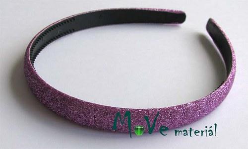 Čelenka jednoduchá potažená lurexem sv. fialová