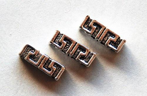 3ks kovový korálek 5x14mm