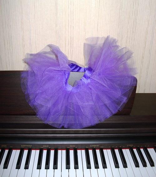Tylová sukně fialová (1-3 roky)