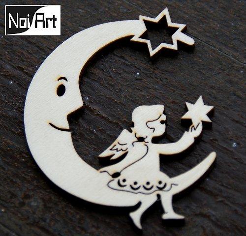 Mesiac s anjelom s hviezdou