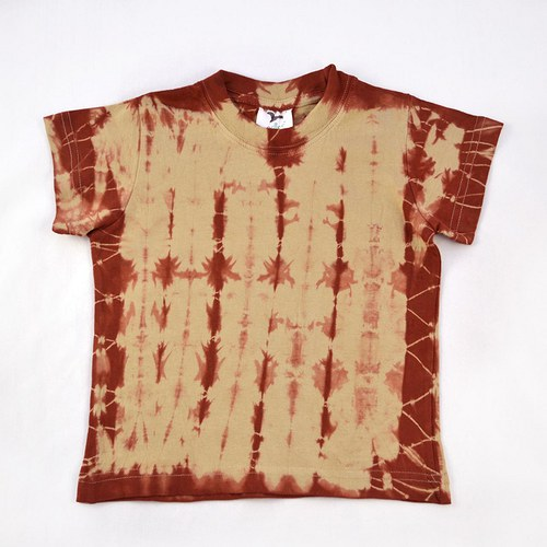 Béžovo-vínové dětské tričko (4 roky)