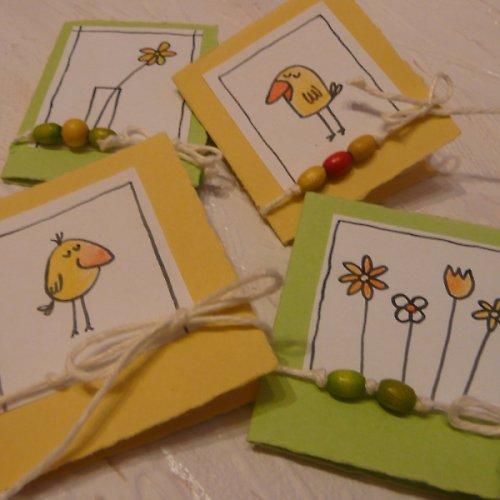 Kartičky ke květině i na dárek