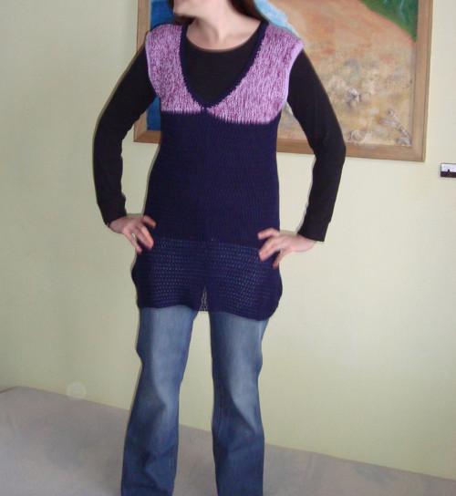 Borůvkový šaty