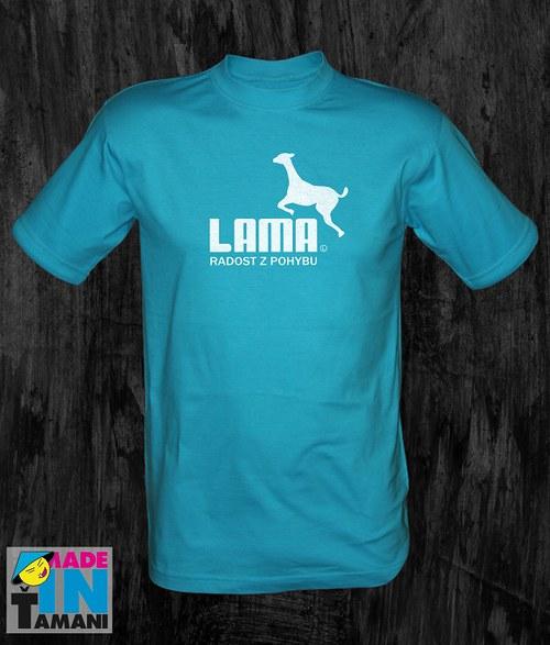 Pánské tyrkysové tričko s Lamou