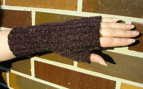 Pletené návleky na ruce - Arnika
