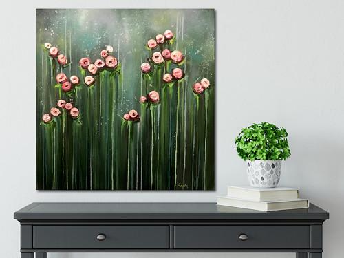 \'\'Creamy flowers\'\' ver.2  (70x70cm)