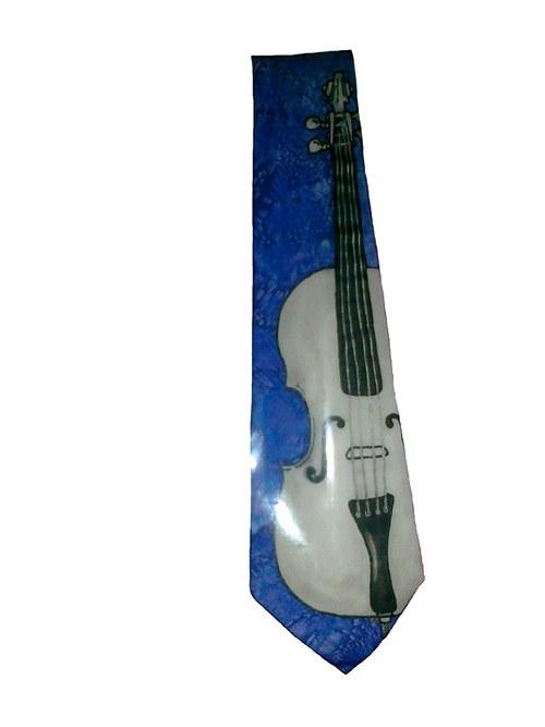 Kravata s violoncellem