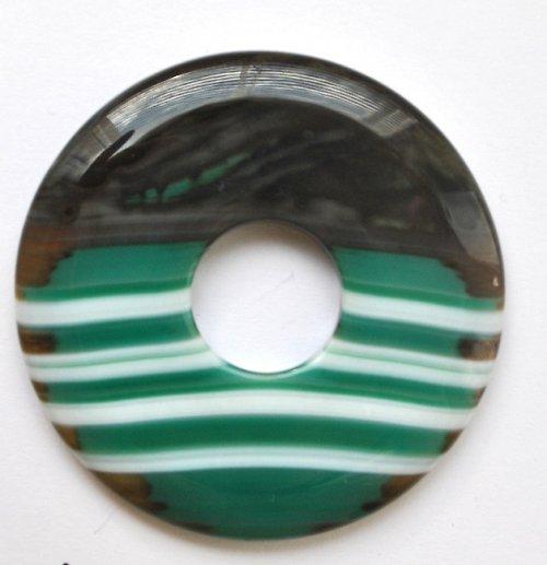 Achát - donut - velký - 5,3 cm