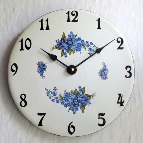 Smaltované hodiny střední kulaté 151