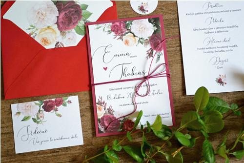 Svatební oznámení Dark rose