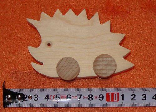 ježek - dřevěná hračka