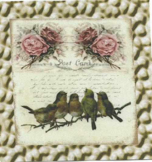 bavlněná látka - panel 9 x 9 cm