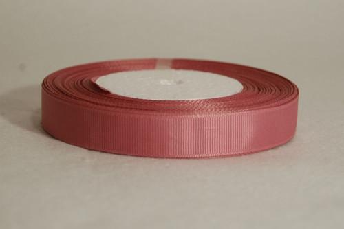 Rypsová stuha 15 mm starorůžová