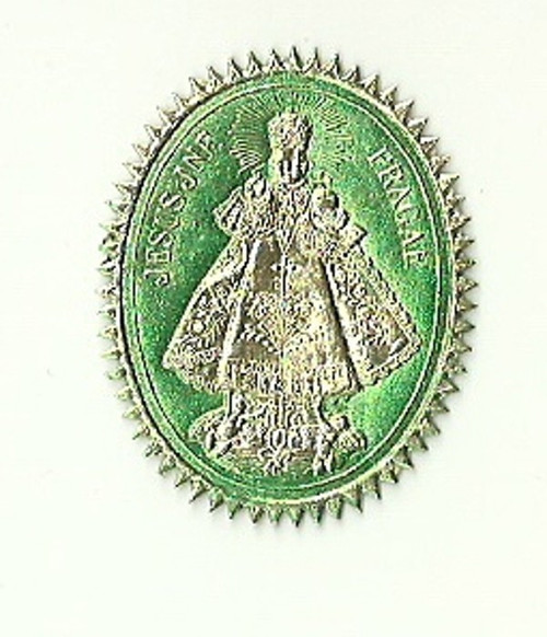 Medailonka papír pražské Jezulátko plastická
