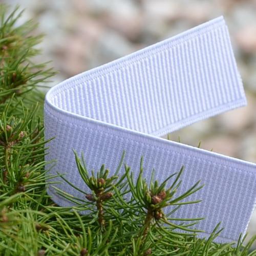 Pruženka do pasu pevná bílá 30 mm