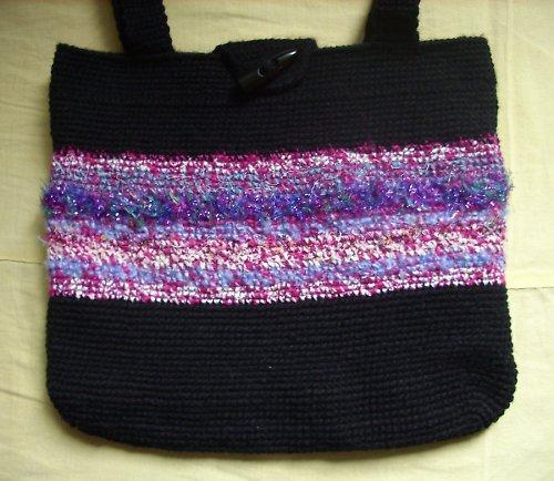 Elegantní taška háčkovaná-sleva