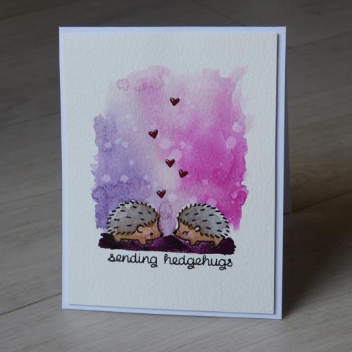 Přáníčko zamilovaní ježci