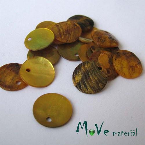 Perleťové penízky 13mm, 10ks, žluté