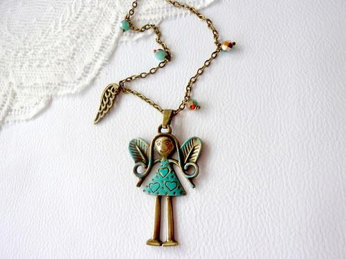 Andělka pro štěstí - náhrdelník