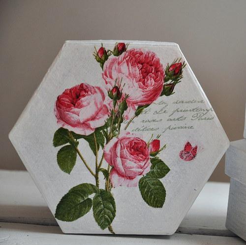 Sada krabiček s růžemi