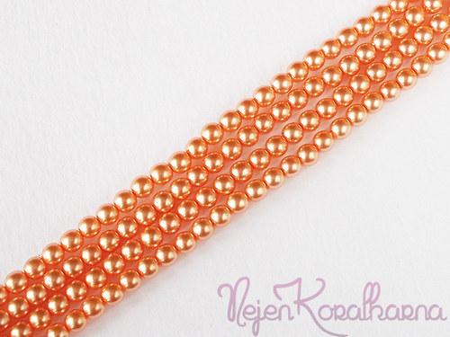 Voskové perle lososová 4mm