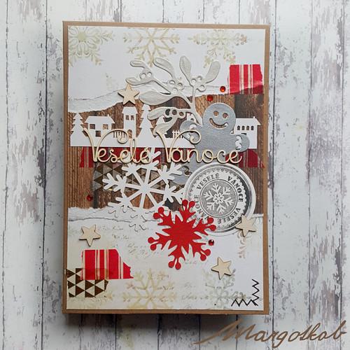 Vánoční přání vesnička 1