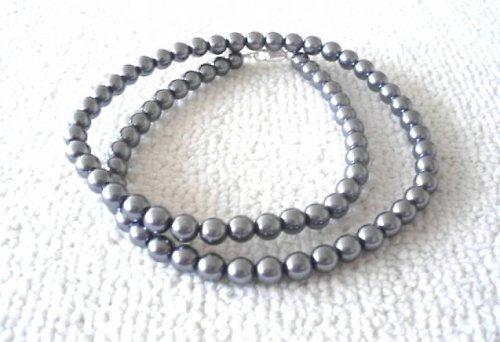 Náhrdelník vosk šedý