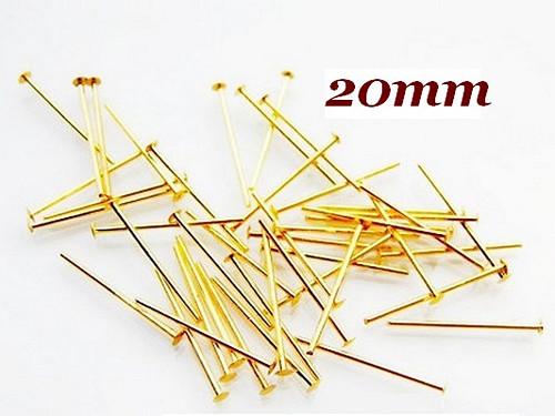 Ketlovací nýty pozlacené, 20mm (50ks)