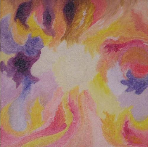 Dotek lásky - olej na plátně