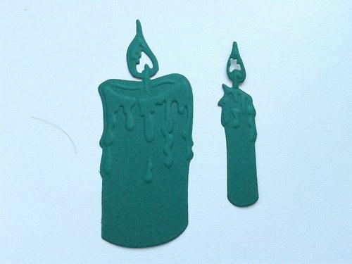 Svíčky -  zelené