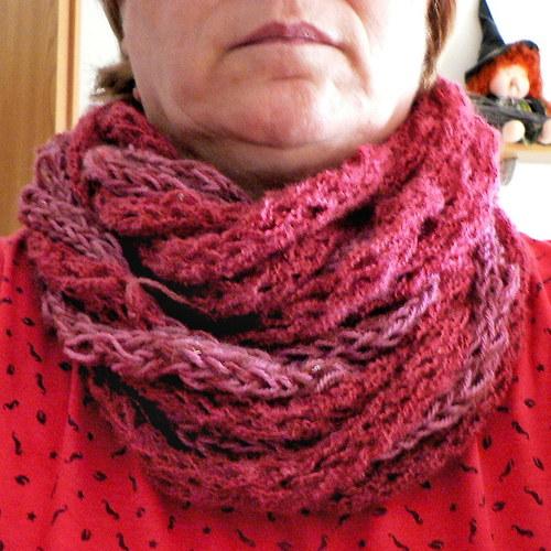 Pletená šála - nákrčník