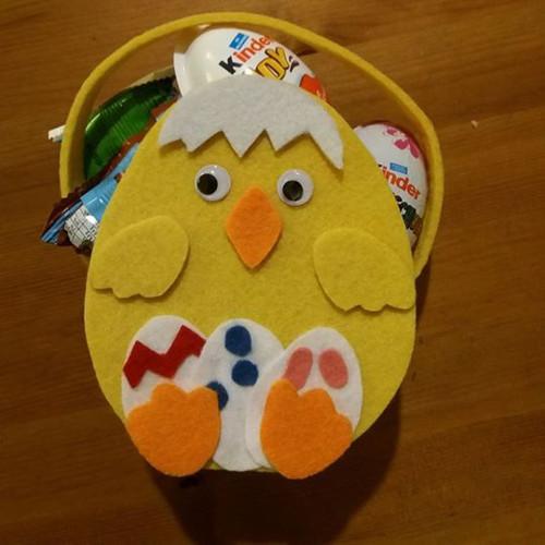 Dekorační košík - kuřátko