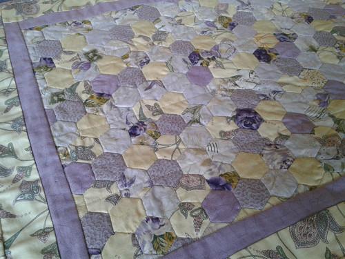 Prostírání žluto - fialové, 52 x 65