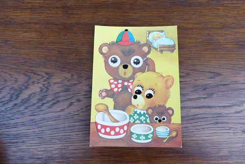 Tři medvídci...mrkací pohlednice