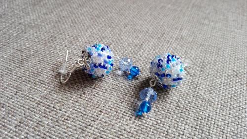 Náušnice ledově modré