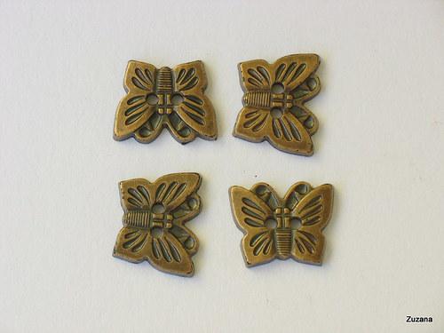 Knoflíky  plastový motýlek