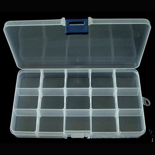 Plastový box na komponenty/ 17,5x10cm/ 1ks