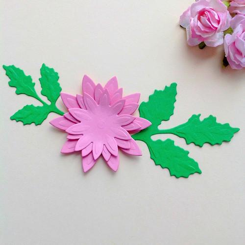 Květina s větvičkami- sada,barva dle přání(FLO 73)